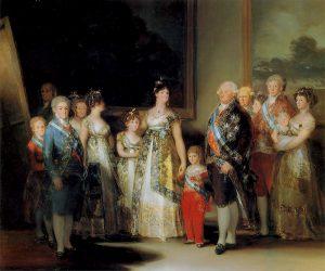 Франсиско Гойя. Портрет семьи Карла IV. 1800-1801.  Прадо, Мадрид (Испания)